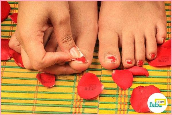 step-1 remove old nail polish