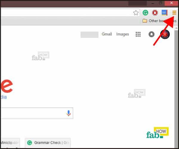 Control menu icon in chrome