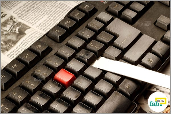 knife to take out keyboard keys