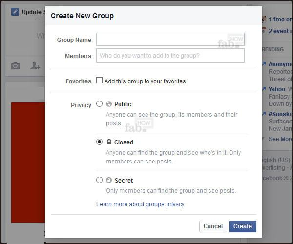how to create group in facebook page