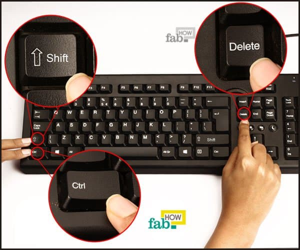 ctrl alt delete shortcut in keyboard
