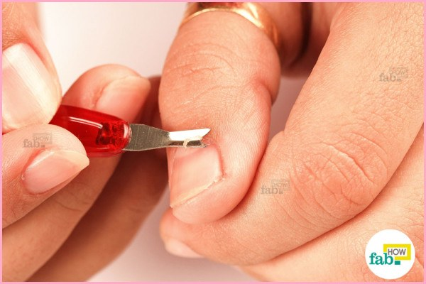 step-8 Trim your cuticles