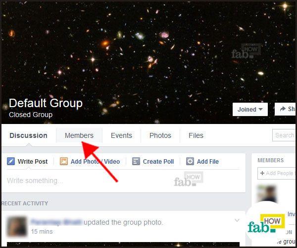 Click members tab