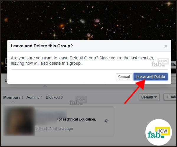 Remove and delete group