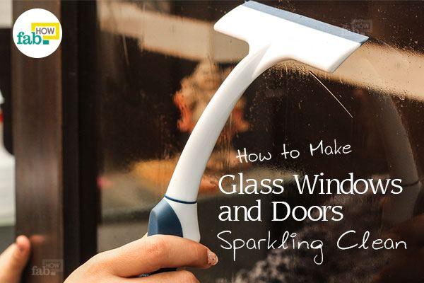 door glass cleaning