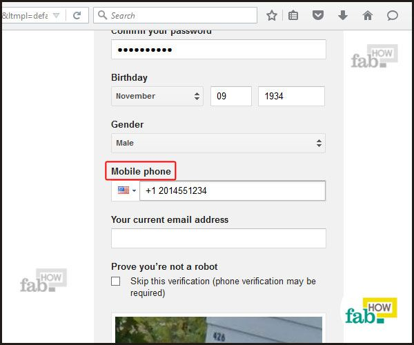 how to create a gmail account without phone number 2015