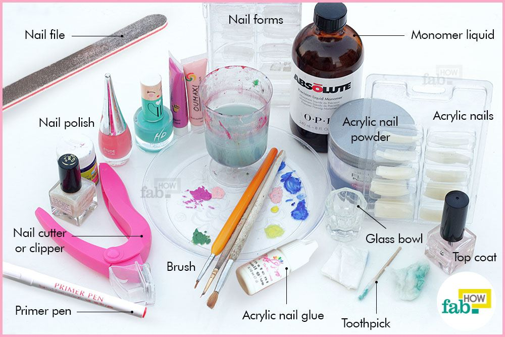 Things needed for acrylic nails