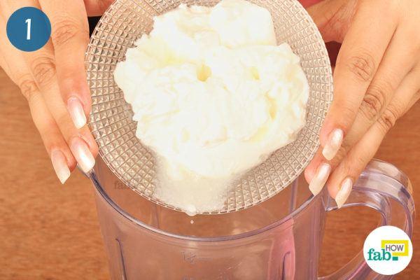 put yogurt in a blender