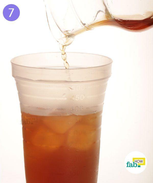 Pour tea into the shaker