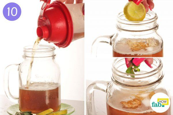 Pour your tea into a jar
