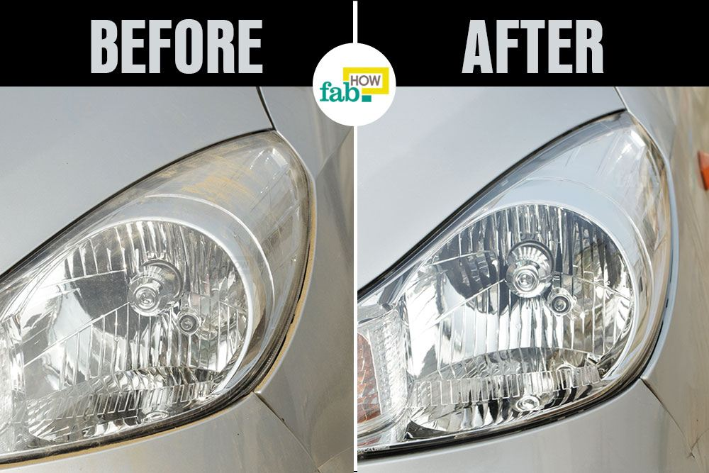 How To Clean Foggy And Cloudy Car Headlights Fab How