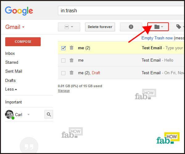 click on folder icon
