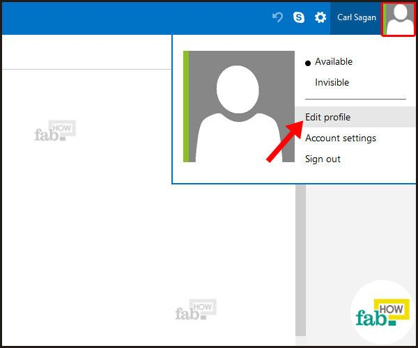 select edit profile
