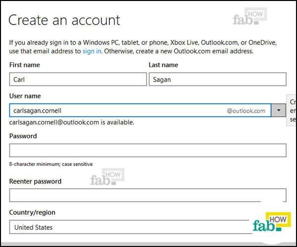 how to make outlook.com.au email account