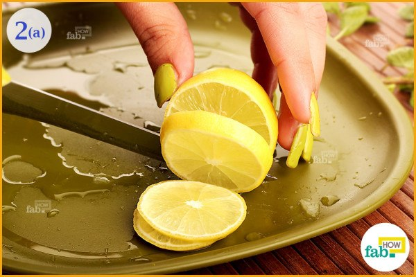 Cut lemon slices