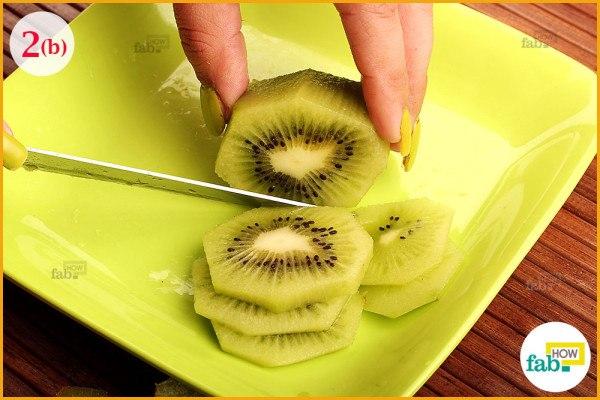 Slice the kiwi