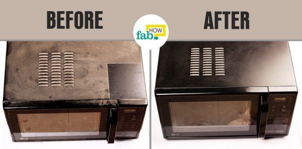 clean and shine your microwave before after