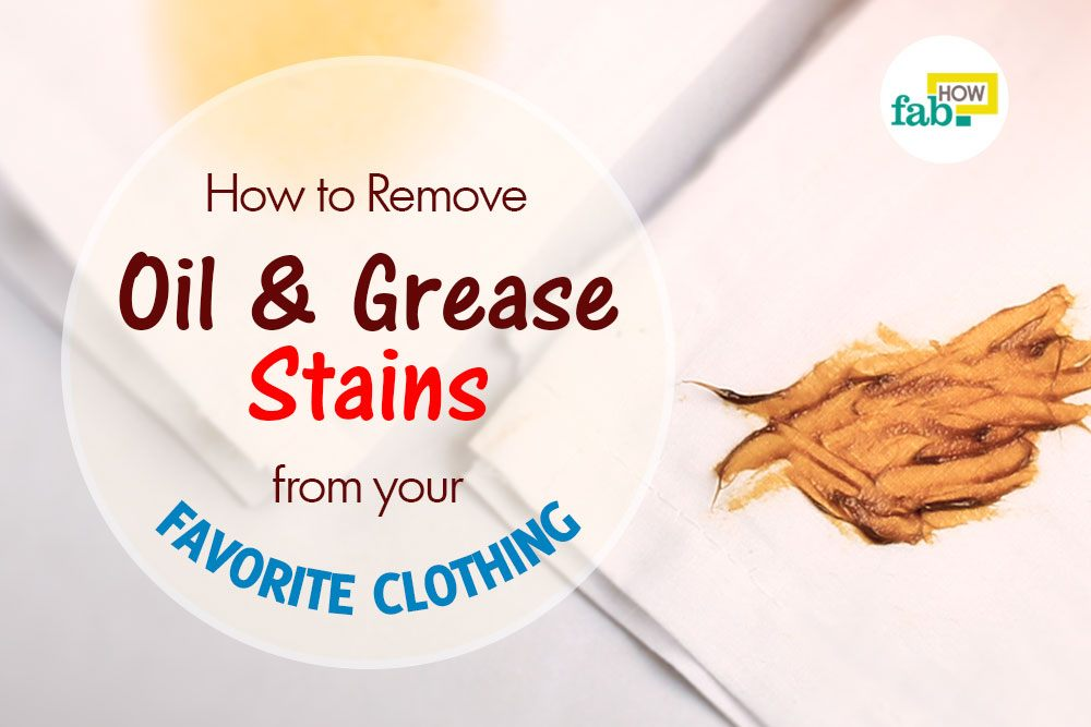 Remove oil and grease stains