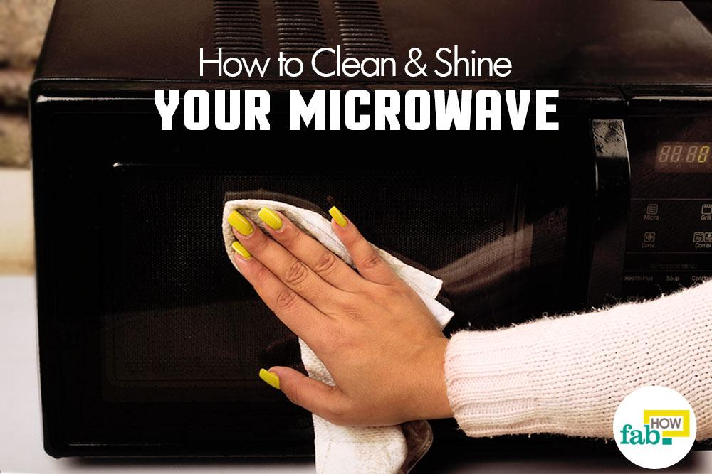 Clean and shine a microwave
