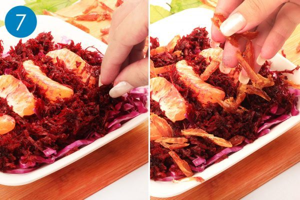 grated beetroot and dates for red cabbage salad