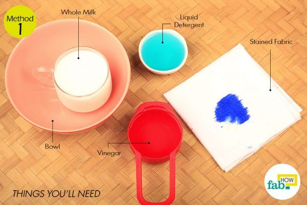 remove ink stains from clothing things need