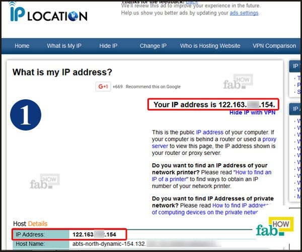 IP address using websites