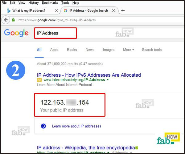 Type ip address