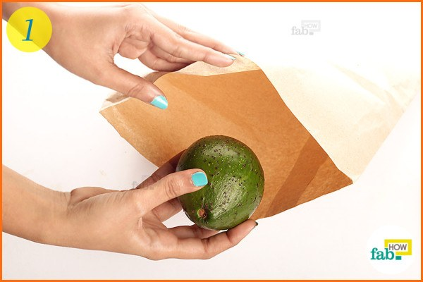 Place avocado in brown paper bag