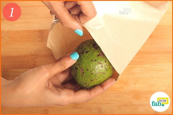 Put-avocado in a brown paper bag