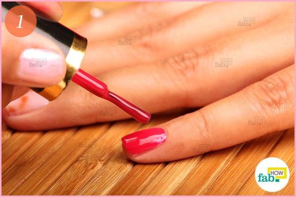 Apply fresh nail polish