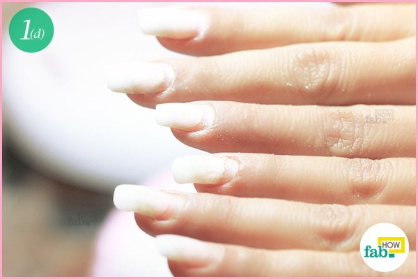 Nails after buffing