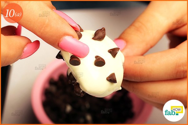 Place chocolate chips