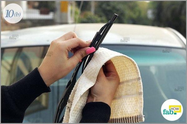 Use microfiber cloth