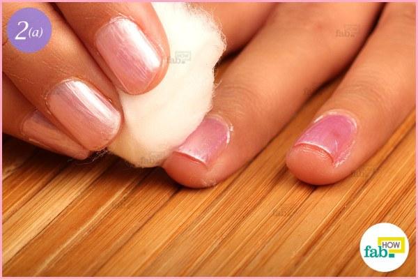 Massage your nails clean