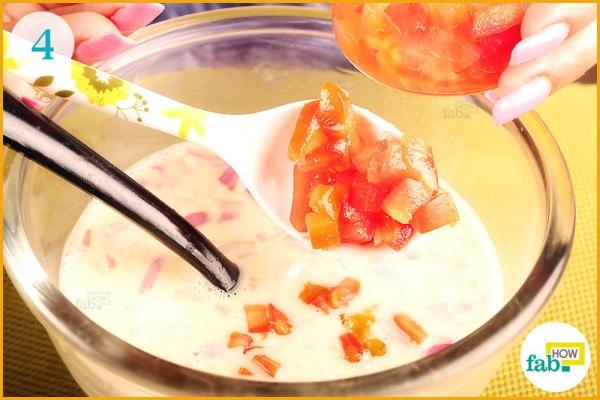 Add diced tomato