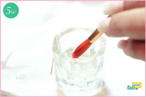 Dip brush in monomer liquid