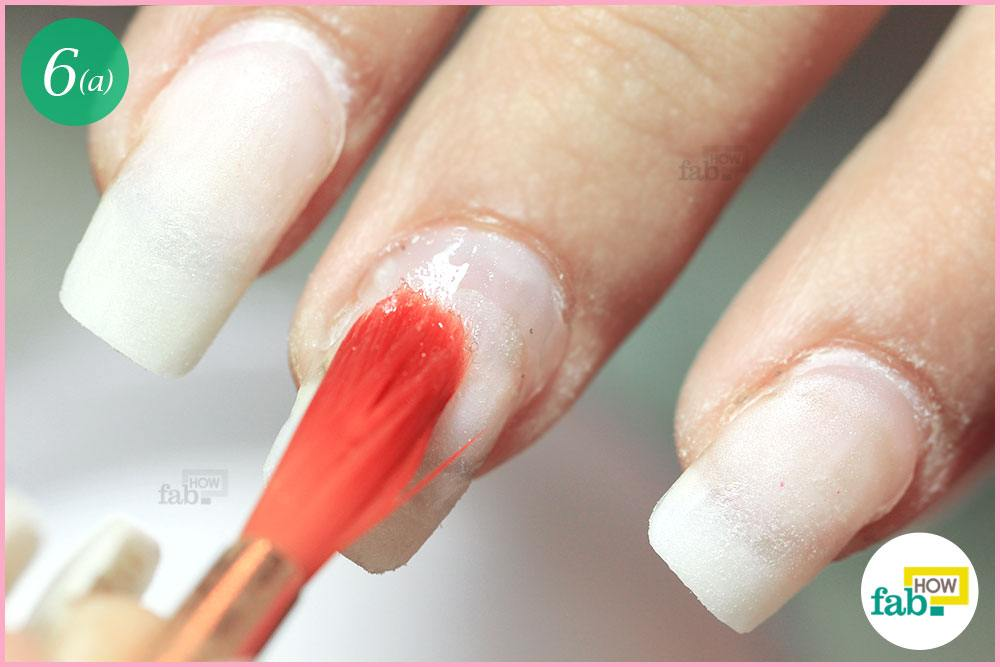 How To Fill Acrylic Nails Step By Image