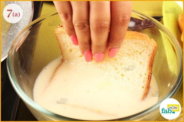 step 7 dip bread in batter