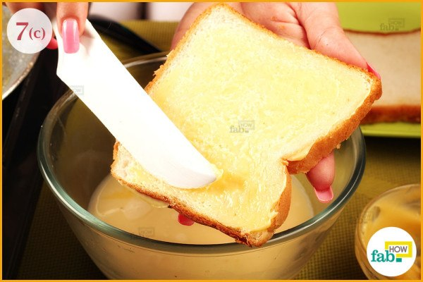 step 7 put butter on bread for crispiness