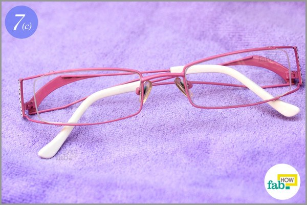 Clea and dry spectacles