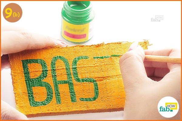 Paint over penciled labels