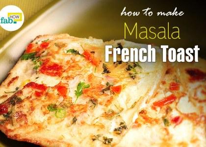 Make Indian masala French toast