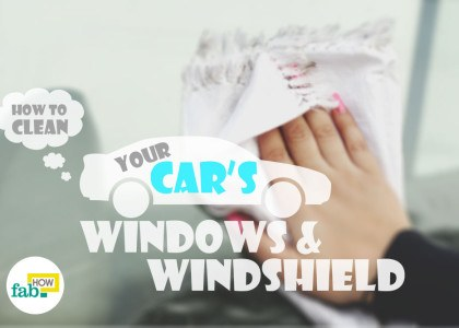 clean car windshield and windows