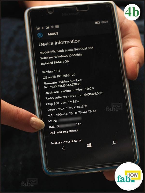 IMEI number windows phone