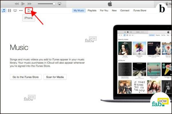 click iPhone icon
