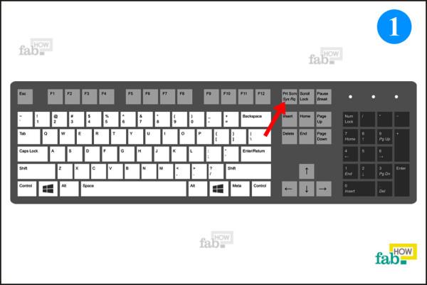 Prnt screen key location