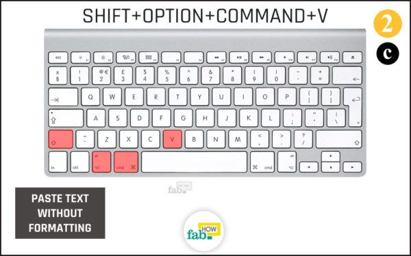 Press shift option command v