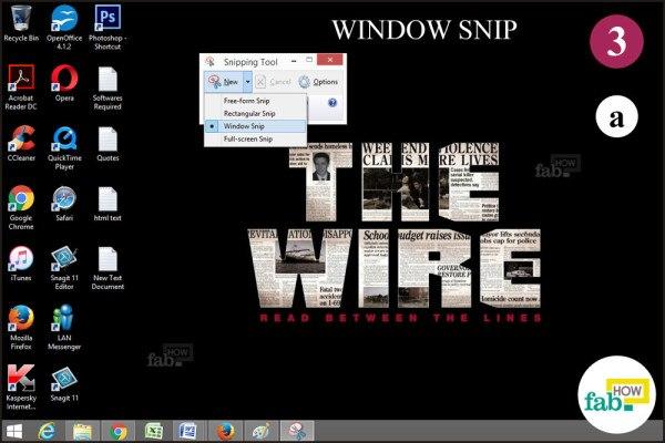 Click window snip