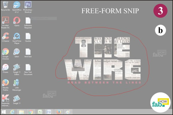 Take a free form snip