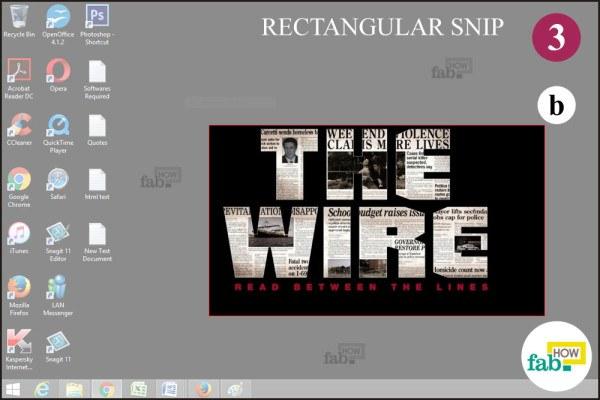 Take Rectangualr snip